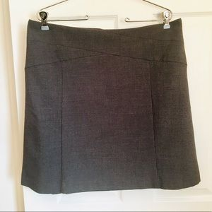 Grey A-Line Knee-length Skirt - Elle